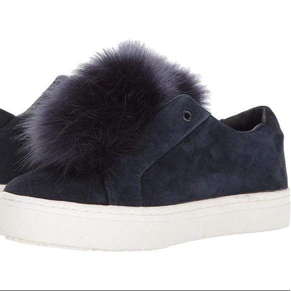ffb014ab8 Sam Edelman Leya Pom Pom Sneakers - Navy Velvet. M 5b2811f2534ef91661832d07
